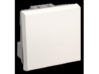 ВКО-21-00-П Выключатель одноклавишный (на 2 модуля) ПРАЙМЕР белый IEK