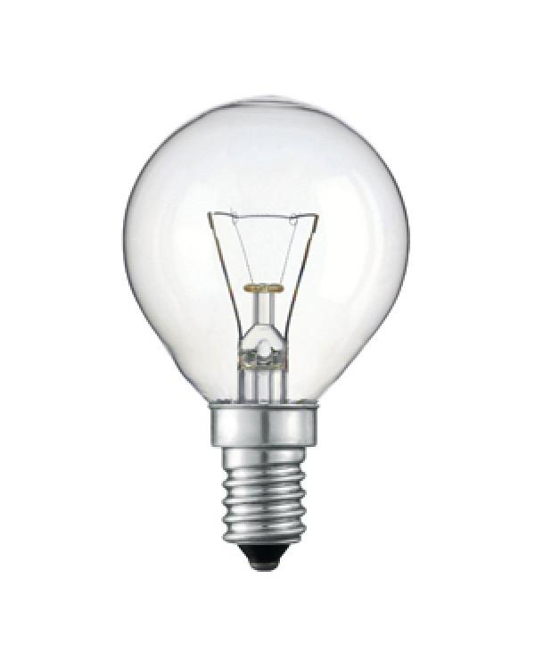011862 Philips P45 40W E14 230V шарик CL (10/100/6000)