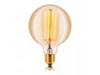 Ретро лампа G125 F2 E27 60W 280LM Прозрачная