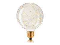 Ретро лампа G95 STARRY E27 2W 100LM Прозрачная