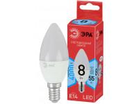 ECO LED B35-8W-840-E14 ЭРА (диод, свеча, 8Вт, нейтр, E14) (10/100/3500)