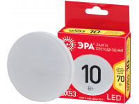 ECO LED GX-10W-827-GX53 ЭРА (диод, таблетка, 10Вт, тепл, GX53) (10/100/4800)