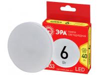 ECO LED GX-6W-827-GX53 ЭРА (диод, таблетка, 6Вт, тепл, GX53) (10/100/4800)