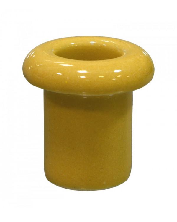 5195, Втулка для сквозного отверстия керамическая цвет золото, Lindas, 13016, 70 руб., 5195-04, Lindas, Ретро керамические изоляторы