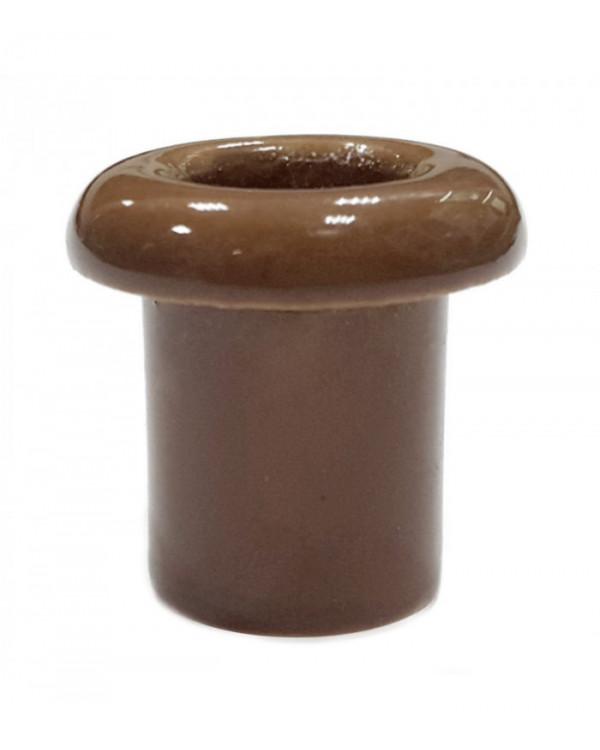 5196, Втулка для сквозного отверстия керамическая цвет капучино, Lindas, 13014, 70 руб., 5196-04, Lindas, Ретро керамические изоляторы