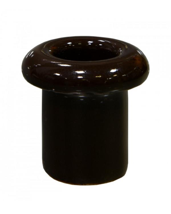 5197, Втулка для сквозного отверстия керамическая коричневая, Lindas, 13012, 70 руб., 5197-04, Lindas, Ретро керамические изоляторы