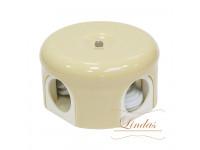 Распределительная коробка d 78mm цвет слоновая кость Lindas