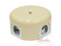 Распределительная коробка d 90mm цвет слоновая кость Lindas