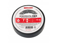 Изолента ПВХ REXANT 15 мм х 10 м, черная, упаковка 10 роликов