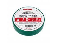 Изолента ПВХ REXANT 15 мм х 25 м, зеленая, упаковка 5 роликов