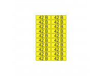 Наклейка знак электробезопасности «42 В» 15х50 мм REXANT (20шт на листе)