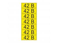 Наклейка знак электробезопасности «42 В» 35х100 мм REXANT (7 шт на листе)