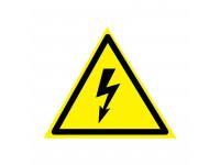 Наклейка знак электробезопасности «Опасность поражения электротоком» 85х85х85 мм REXANT 20шт