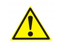 Наклейка знак безопасности «Внимание. Опасность» 150х150х150 мм REXANT