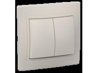 ВС10-2-0-ККм Выключатель 2кл 10А КВАРТА (кремовый)