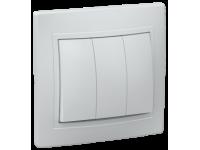 ВС10-3-0-ККм Выключатель 3кл 10А КВАРТА (кремовый)