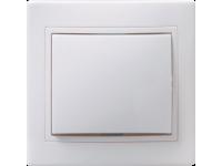 ВСк10-1-0-КБ Выключатель 1кл кноп. 10А КВАРТА (белый)