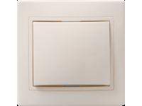 ВС10-1-0-ККм Выключатель 1кл 10А КВАРТА (кремовый)