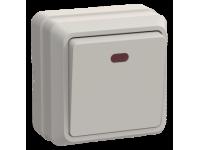 ВС20-1-1-ОКм Выключатель 1кл с инд. 10А откр.уст. ОКТАВА (кремовый)