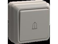 ВСк20-1-0-ОКм Выключатель 1кл кноп. 10А ОКТАВА (кремовый)