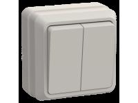 ВС20-2-0-ОКм Выключатель 2кл 10А откр.уст. ОКТАВА (кремовый)