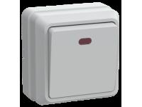 ВС20-1-1-ОБ Выключатель 1кл с инд. 10А откр.уст. ОКТАВА (белый)