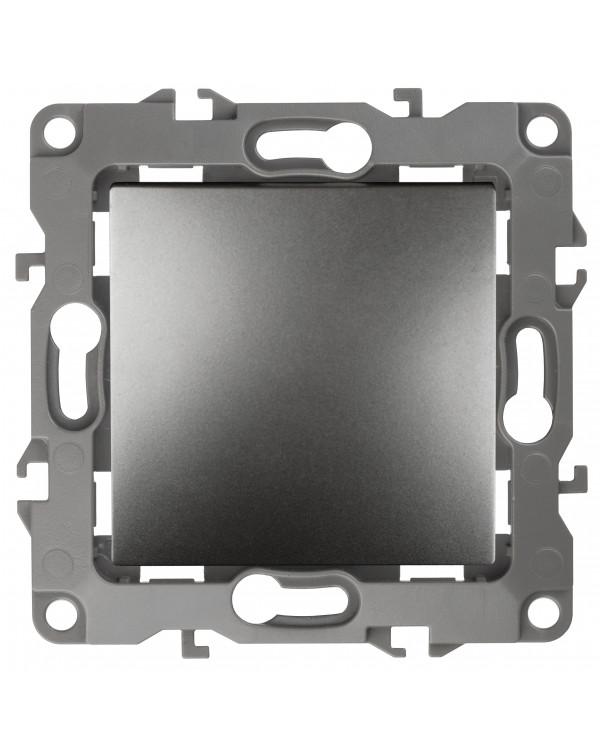 12-1111-12 ЭРА Кнопка, 10АХ-250В, Эра12, графит (10/100/3000)