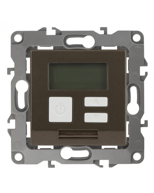 12-4111-13 ЭРА Терморегулятор универс. 230В-Imax16А, IP20, Эра12, бронза (6/60/1200), 12-4111-13