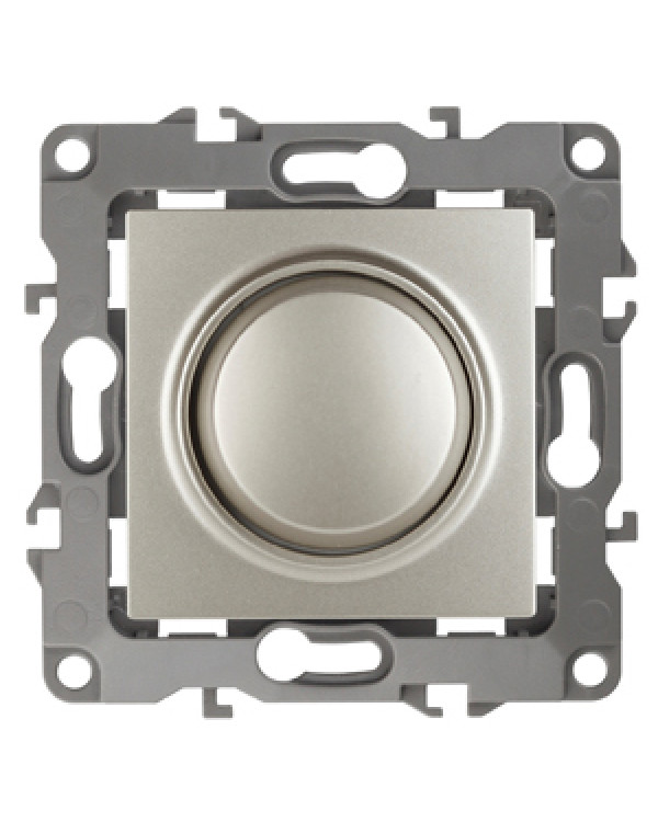 12-4101-15 ЭРА Светорегулятор поворотно-нажимной, 400ВА 230В, IP20, Эра12, перламутр (6/60/1500)