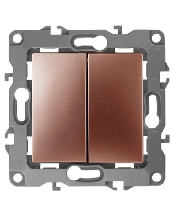 12-1106-14 ЭРА Переключатель двойной, 10АХ-250В, IP20, Эра12, медь (10/100/2500)