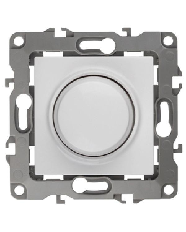 12-4101-01 ЭРА Светорегулятор поворотно-нажимной, 400ВА 230В, IP20, Эра12, белый (6/60/1920), 12-4101-01