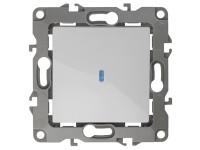 12-1102-01 ЭРА Выключатель с подсветкой, 10АХ-250В, IP20, Эра12, белый (10/100/3200)