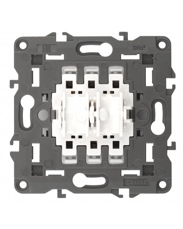 12-1110-99 ЭРА Переключатель для жалюзи (кноп), 10АХ-250В, Эра12, механизм (10/100/3000), 12-1110-99