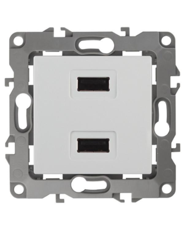 12-4110-01 ЭРА Устройство зарядное USB, 230В/5В-2100мА, IP20, Эра12, белый (6/60/1440), 12-4110-01