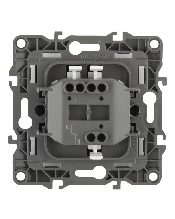 12-1001-02 ЭРА Выключатель, 10АХ-250В, IP20, без м.лапок, Эра12, слоновая кость (10/100/3200), 12-1001-02