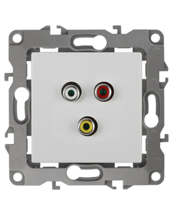 12-3113-01 ЭРА Розетка RCA, IP20, Эра12, белый (10/100/3200)