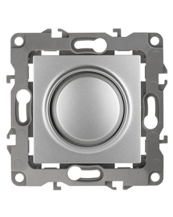 12-4101-03 ЭРА Светорегулятор поворотно-нажимной, 400ВА 230В, IP20, Эра12, алюминий (6/60/1500)