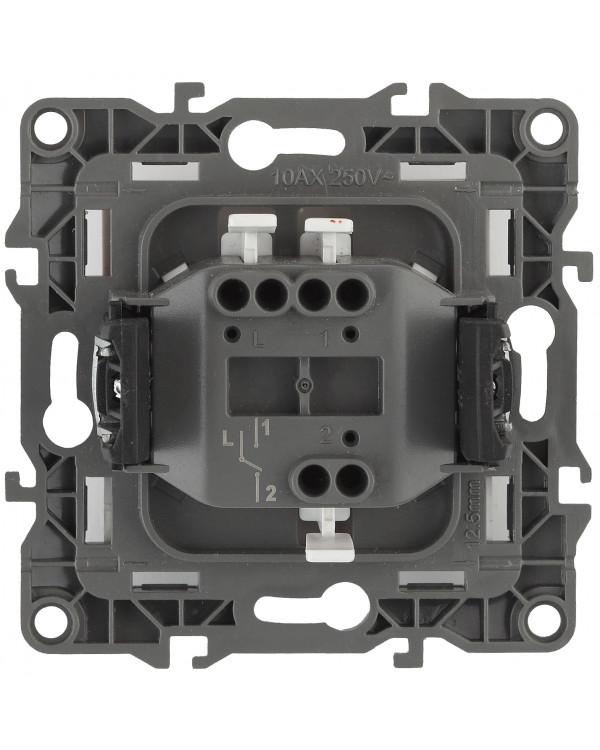 12-1103-02 ЭРА Переключатель, 10АХ-250В, IP20, Эра12, слоновая кость (10/100/3200)