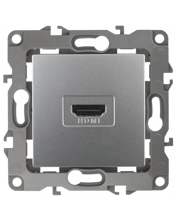 12-3114-03 ЭРА Розетка HDMI, IP20, Эра12, алюминий (10/100/3200), 12-3114-03