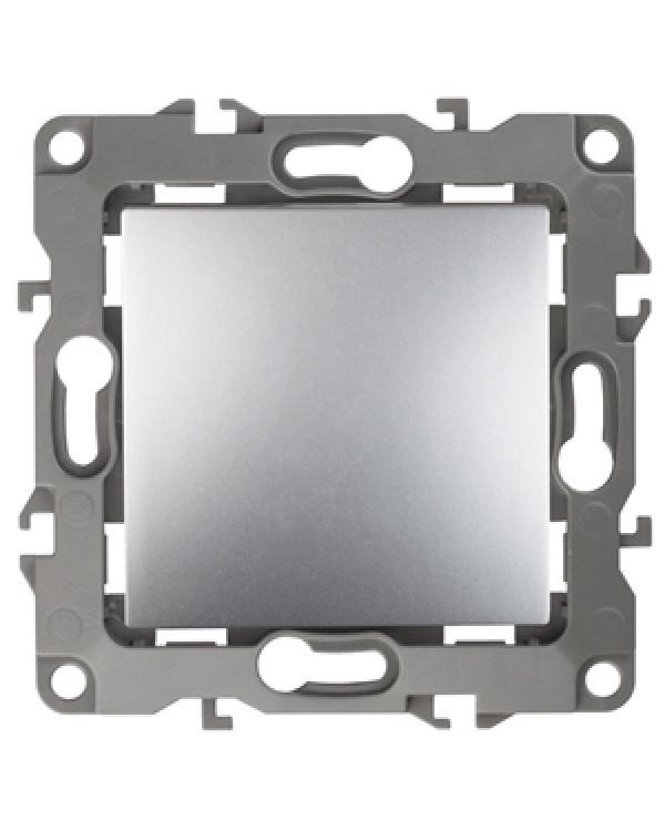 12-1101-03 ЭРА Выключатель, 10АХ-250В, IP20, Эра12, алюминий (10/100/3200)