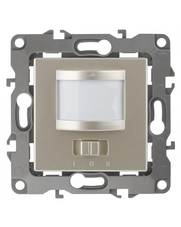 12-4103-04 ЭРА Датчик движения 2-проводной, 180-240В, 200Вт, IP20, Эра12, шампань (6/60/1800)