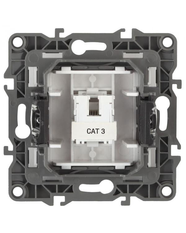 12-3105-01 ЭРА Розетка телефонная RJ11, IP20, Эра12, белый (10/100/3200)