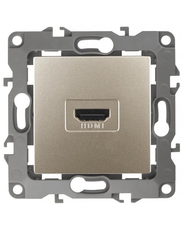 12-3114-04 ЭРА Розетка HDMI, IP20, Эра12, шампань (10/100/3200)