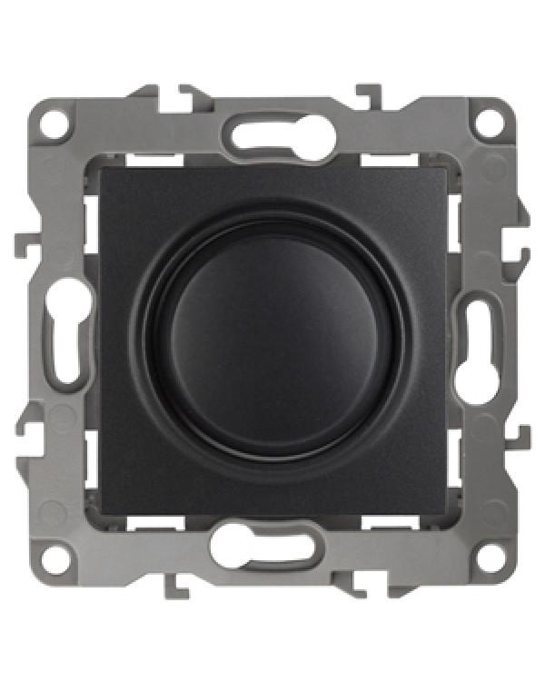 12-4101-05 ЭРА Светорегулятор поворотно-нажимной, 400ВА 230В, IP20, Эра12, антрацит (6/60/1500)