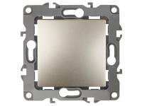 12-1101-04 ЭРА Выключатель, 10АХ-250В, IP20, Эра12, шампань (10/100/3200)