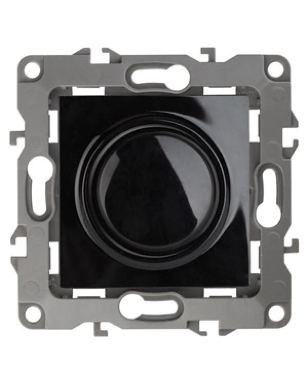 12-4101-06 ЭРА Светорегулятор поворотно-нажимной, 400ВА 230В, IP20, Эра12, чёрный (6/60/1500)