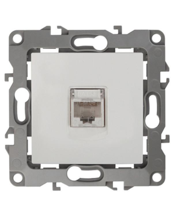 12-3107-02 ЭРА Розетка информационная RJ45, IP20, Эра12, слоновая кость (10/100/3200)