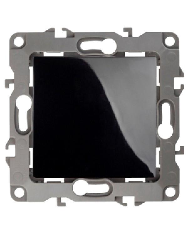12-1001-06 ЭРА Выключатель, 10АХ-250В, IP20, без м.лапок, Эра12, чёрный (10/100/2500), 12-1001-06