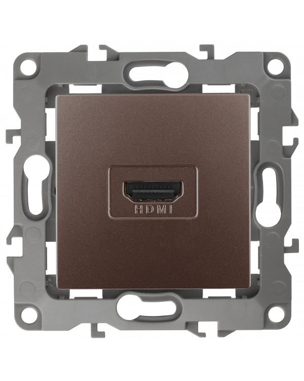 12-3114-13 ЭРА Розетка HDMI, IP20, Эра12, бронза (10/100/3200), 12-3114-13