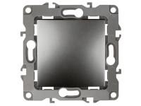 12-1001-12 ЭРА Выключатель, 10АХ-250В, IP20, без м.лапок, Эра12, графит (10/100/2500)